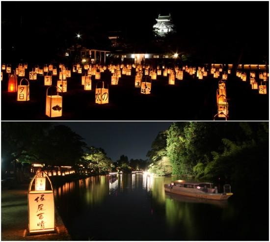 城下町の夜を楽しむ『松江水燈路2013』