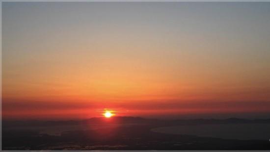 桝水高原から眺める最高のサンセット♪